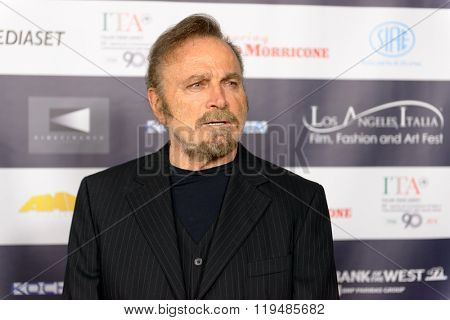 FEBRUARY 22, 2016: The actor Franco Nero at the Los Angeles Italian Film Festival.