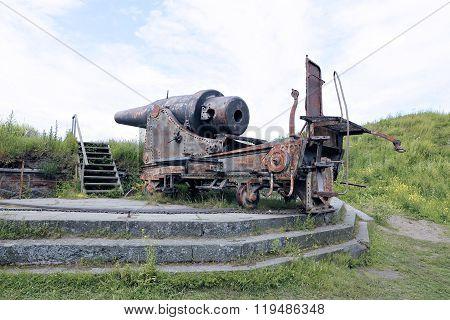Old Cannon In The Sea Fortress Of Suomenlinna (sveaborg)