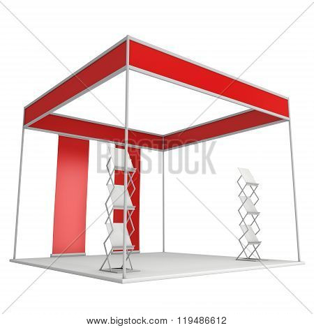 Trade Show Booth Box And Magazine Rack And Roll Up
