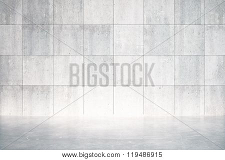 Empty Room With Concrete Floor And Wall
