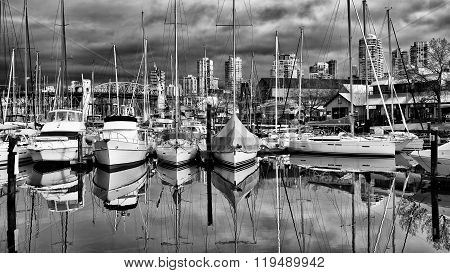 Granville Island On A Cloudy Day