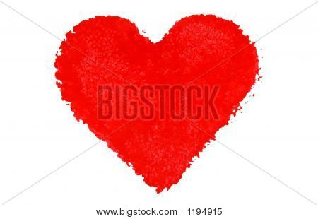 Hand Painted Red Heart Shape.