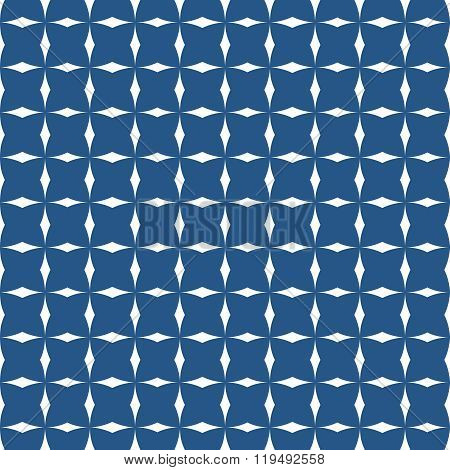 Tile navy blue and white vector pattern