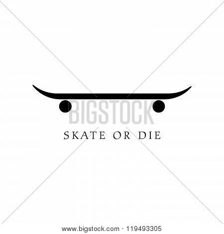 Skate Icon Illustration In Black