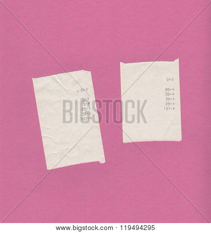 Bill Receipts