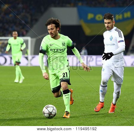Uefa Champions League Game Fc Dynamo Kyiv Vs Manchester City In Kyiv, Ukraine