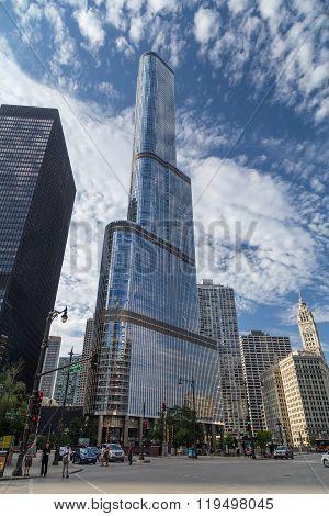 Chicago, Il/usa - Circa July 2015: Trump International Hotel & Tower In Chicago,  Illinois