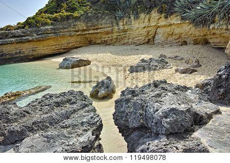 View of Pesada beach, Kefalonia, Ionian islands, Greece