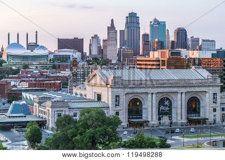 Kansas City, Mo/usa - Circa July 2013: View Of  Kansas City, Missouri From National World War I Muse