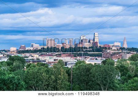 Kansas City, Mo/usa - Circa July 2015: View Of  Kansas City, Missouri,  Kansas