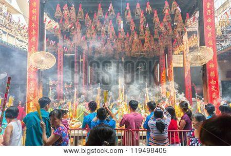 Pilgrims pagoda Lunar New Year's Day