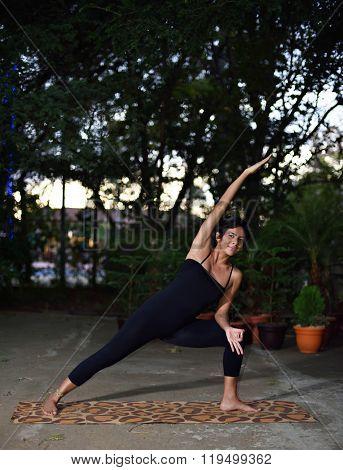 Doing Morning Yoga