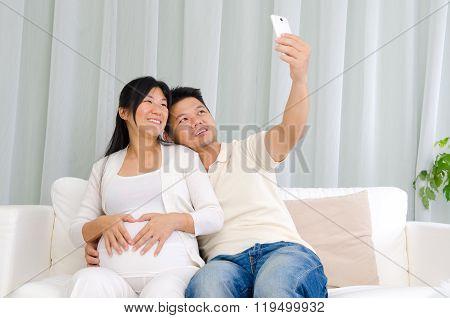 Asian Pregnant Couple