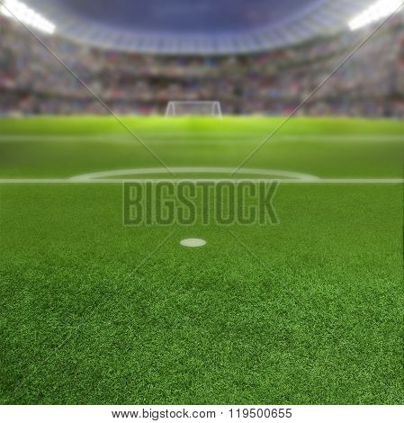 Soccer Stadium Background With Copy Space