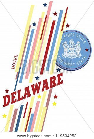 Banner Delaware For The Presentation Of The Us State