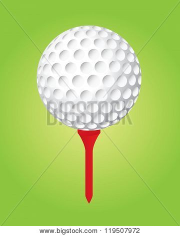 Vector Golf Ball and Tee Set