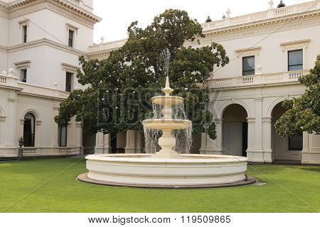 Fountain in Government House in Melbourne