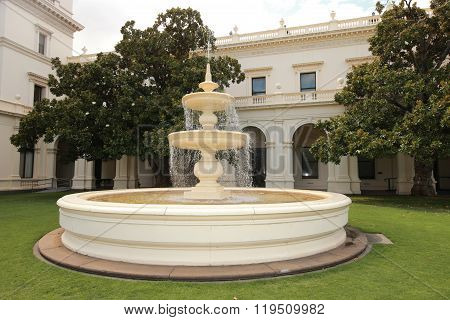 Fountain in Government House in Melbourne, Victoria.