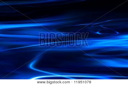 flowing blue abstract background on black