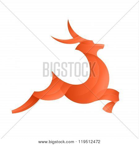 Leaping Deer illustration of the trend gradient logo