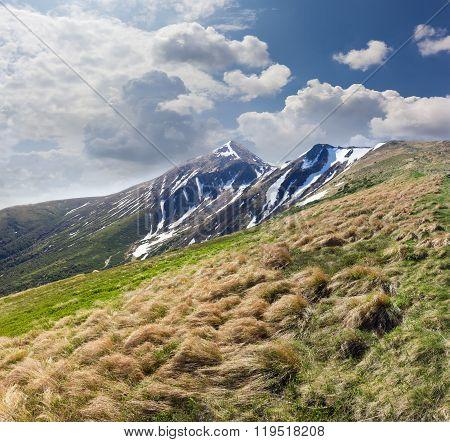 Peak In The Carpathian Mountains In Early Spring