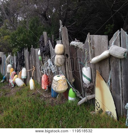 Bodega Bay Fence of Finds