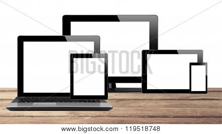 Tablet Pc, Mobile Phone And Computer