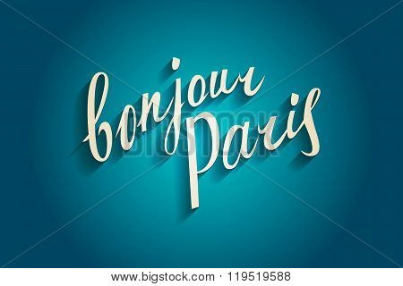 Bonjour Paris Card.