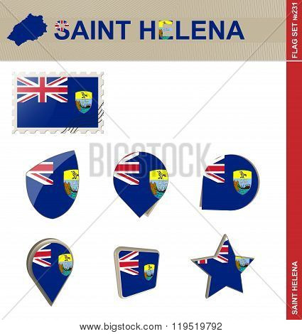 Saint Helena Flag Set, Flag Set #231