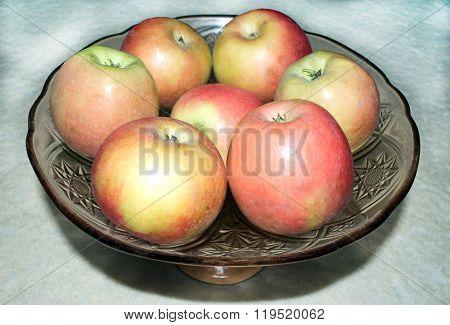 Ripe Apples In A Vase