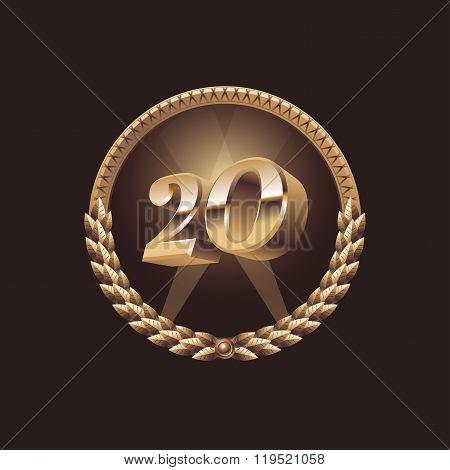Twenty years anniversary celebration design
