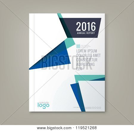 Abstract Shapes Background For Business Annual Report Book Cover Brochure Poster