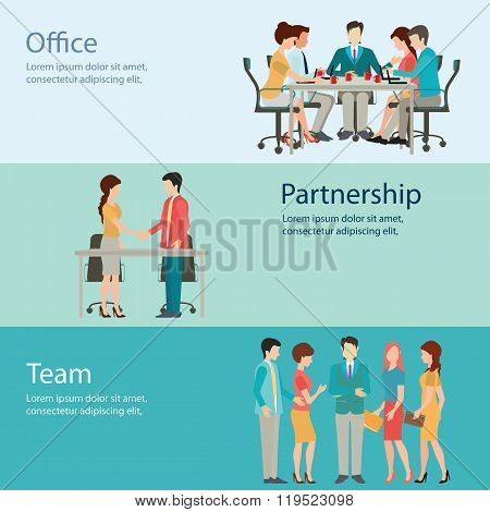 Office Worker Business People Vector Illustration.