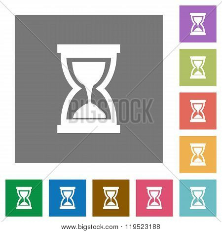 Hourglass Square Flat Icons