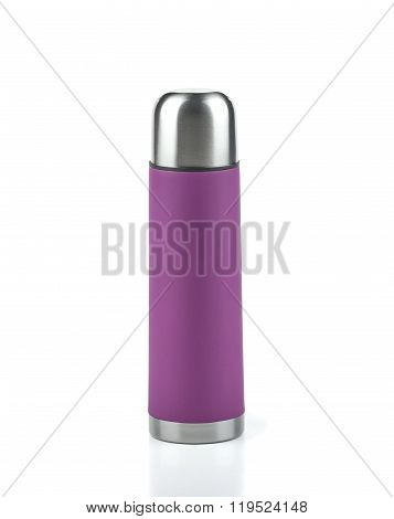 Pink thermos flask