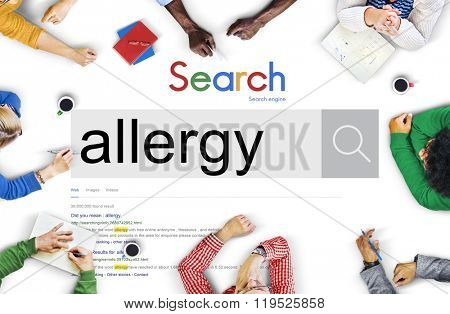 Allergies Reaction Aversion Medical Sensitive Concept