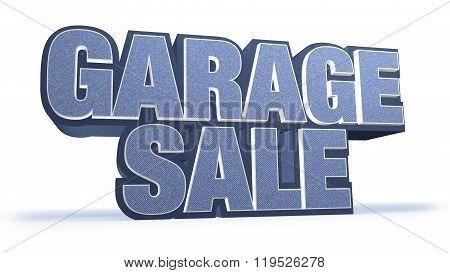 Garage Sale Jeans Sales Campaign Title