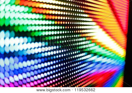 Brightly Colored Waves At The Led Screen
