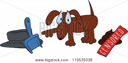 cute dog poop