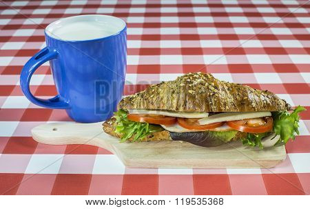 Seedy Croissant Sandwich