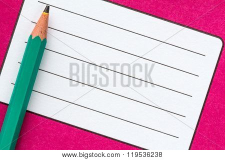 Exercise Book Name Label And Pencil