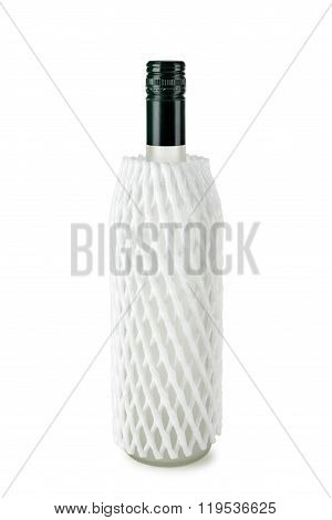 Bottle In A Polystyrene Mesh
