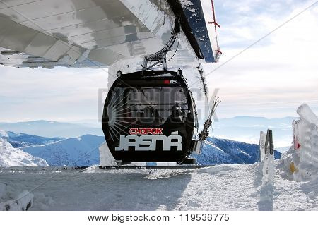 Cabine Of Cable Car In Jasna.