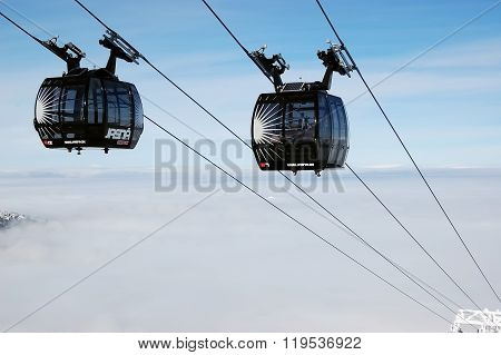 New Cabines Of Modern Cableway.