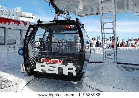 Upper Station Cableway On Chopok Mount.