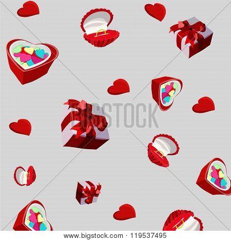 Celebratory Background. Gift, Wedding Ring