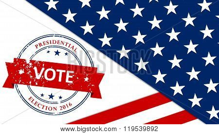 Presidential election in the USA - poster