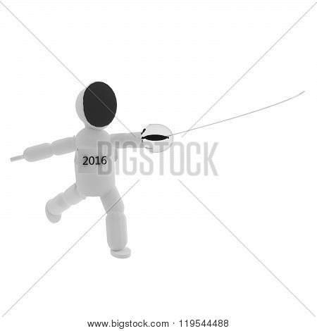 Fencer With Extended Sword