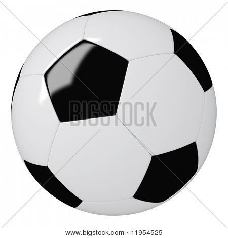 High res render of a football - soccer ball