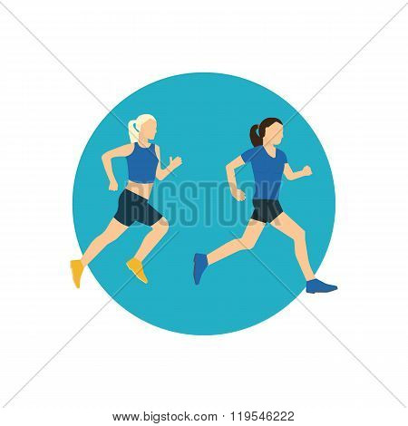 Running woman. Healthy lifestyle, fitness and physical activity concept.